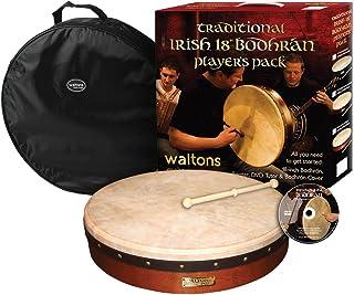 Waltons WMP1900 18 اینچ Plain Bodhran Pack با DVD Beater و Cover Brown