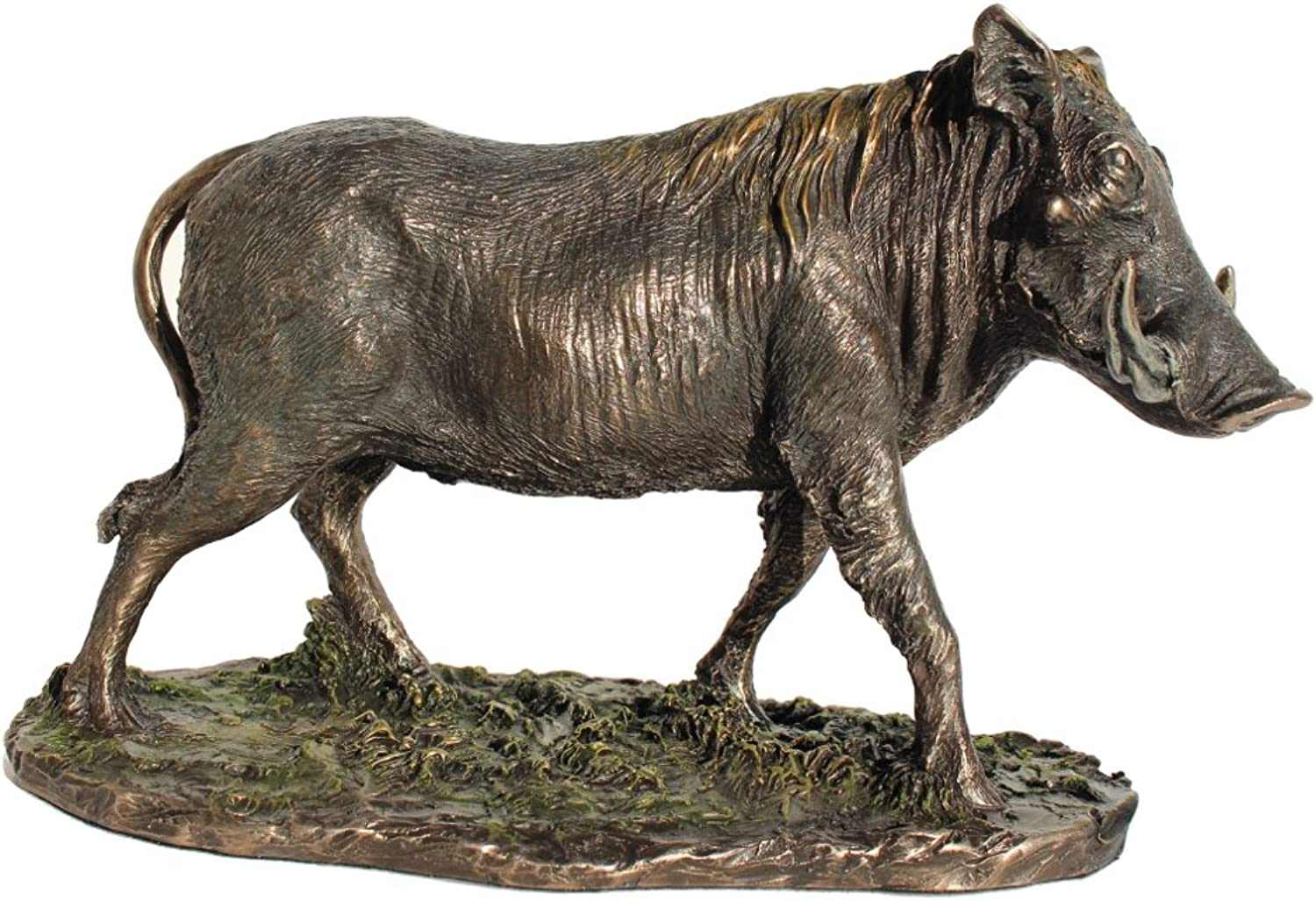 Standing Warthog Cold Cast Bronze Statue 8 5 8 Inch Long