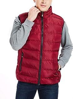 APRAW Men's Lightweight Packable Down Puffer Vest Travel Sport Outdoor Sleeveless Jacket