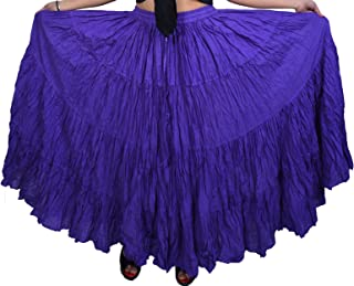 WEVEZ Women's Belly Dance Cotton 12 Yard Skirt