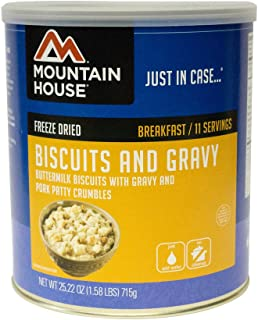 mountain house biscuits and gravy #10 can