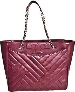 Tory Burch 50641 Alexa Qulten Chain Imperial Shoulder Bag (Imperial Garnet)