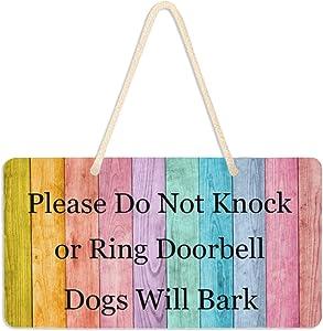 Colorful Vintage Wooden Pattern Board Hanging Door Sign 6