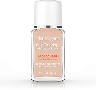 Neutrogena Skinclearing Makeup, 90 Warm Beige, 1 Fl. Oz