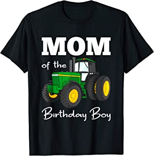 Mom Of The Birthday Boy Shirt Tractor Shirt Farm Party Tee