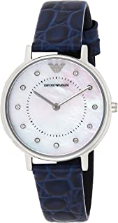 Emporio Armani Women's Quartz Watch, Analog Display and Leather Strap AR11095