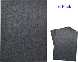 TroyStudio Acoustic Panel - Soundproofing & Sound Absorbing Panel - Super Dense Thick Polyester Fiber Board - Multiple Colors & Sizes - PACK of 6 (400 X 300 X 12 mm, Gray)