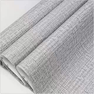 DWIND D1087-3 Peel and Stick Wallpaper Gray Grasscloth Self Adhesive Wallpaper Paper for Bedroom