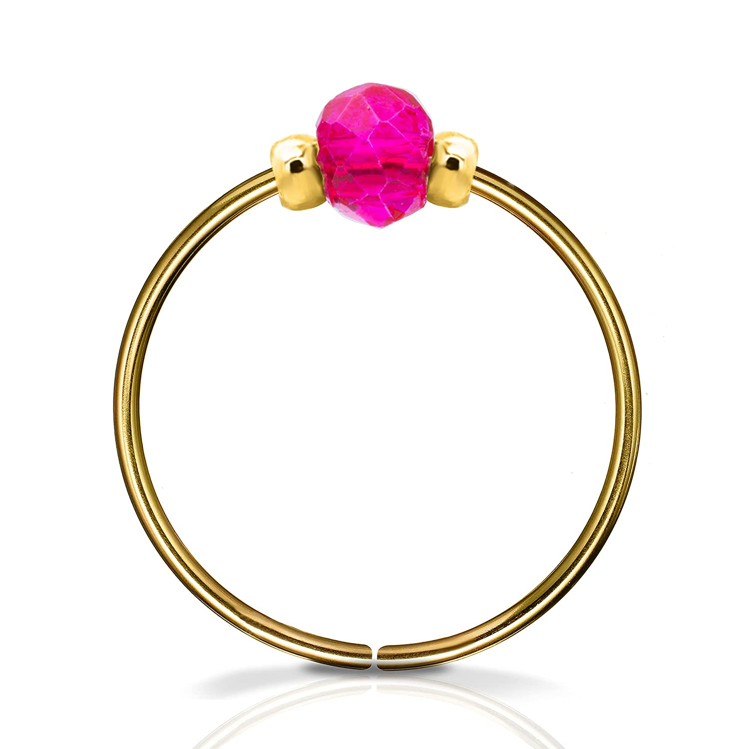 Bombing free shipping Nose Ring - 14K Gold Max 41% OFF Piercings Hypoallergenic Filled Conc