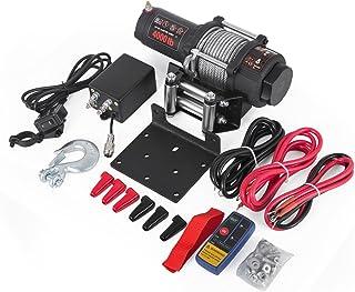 Moracle Cabrestante 12V Winch Sintético Cuerda para Winche de Recuperación con ATV UV 1815KG