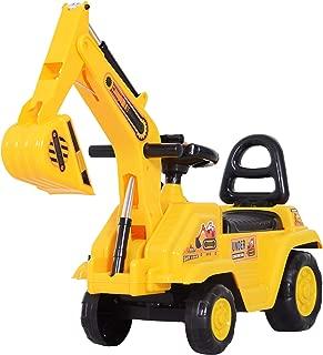 HOMCOM Correpasillos Excavadora para Niños Tractor Infantil