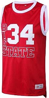 MM MASMIG Jesus Shuttlesworth 34 Big State Basketball Jersey He Got Game S-XXL Red