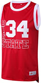 MM MASMIG Jesus Shuttlesworth 34 Big State Basketball Jersey He Got Game S-XXL Red