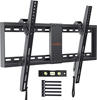 Perlegear Support Mural TV Inclinable pour LED, LCD, OLED, TV à Écran Plat De 37 à 82 Pouces – Support Mural Ultra Résista...