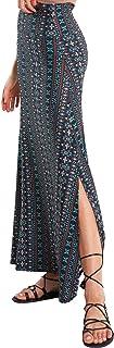 Sponsored Ad - noflik Women Fold-Over Long Maxi Skirts with Elastic High Waist & Side Slits