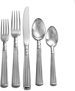 Liberty Tabletop Lincoln 65-piece 18/10 Flatware Set for 12, Includes Serving Pieces Made in USA