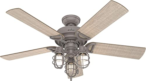 discount Hunter Fan Company 50410 new arrival Starklake sale Ceiling Fan, 52, Quartz Grey Finish outlet online sale