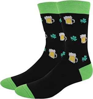 Men's Novelty Funny Crew Socks Golf Math Teeth Corgi Hen Christmas Pattern