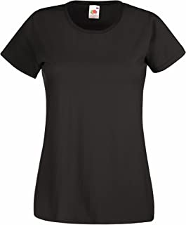 1dd27f75 Fruit Of The Loom Ladies/Womens Lady-Fit Valueweight Short Sleeve T-Shirt