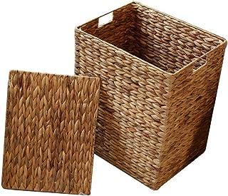 Panier de rangement Paniers de rangement en osier faits à la main, paniers décoratifs et organisateur de salle de bains fo...