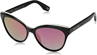 Marc Jacobs Women's Marc301s Polarized Cateye Sunglasses, Black, 55 mm