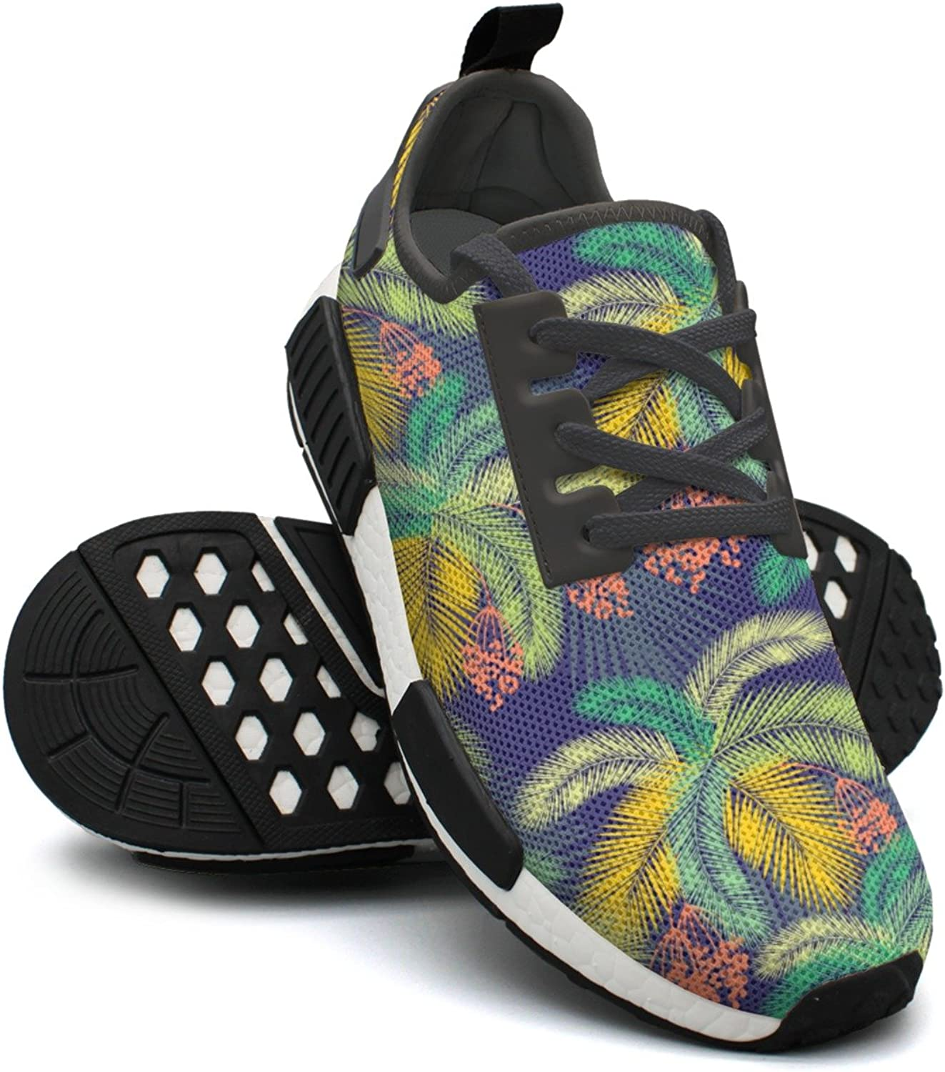 color Palm Leaves And Fruit colorful Running shoes Womens Nmd Tennis shoes Gym