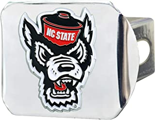 FANMATS NCAA North Carolina State Wolfpack Color Hitch - Chromecolor Hitch - Chrome, Team Colors, One Sized