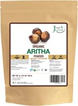 100% Organic Certified Aritha Powder (Soap Nut Powder) 227g /0.5 LB/ 08oz - Organic Hair Cleansing and Conditioning Product