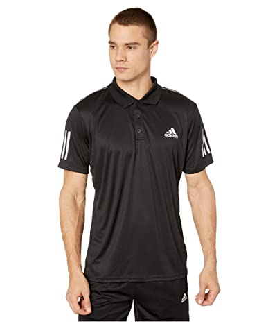 adidas Club 3-Stripes Polo (Black/White) Men