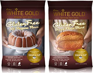 Extra White Gold Gluten Free Flour Blends Variety Pack – For Baking Cakes & Bread – [Kosher] [Gluten Free] [Vegan] [Soy Free] [Nut Free] [Dairy Free] (2 pack)