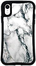 iPhone XR ケース どこでもくっつくケース WAYLLY(ウェイリー) アイフォンXRケース 着せ替え 耐衝撃 米軍MIL規格 [大理石 ホワイト] セット MK