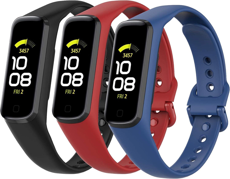 3 mallas para reloj Samsung Galaxy Fit2 (colores de la foto)