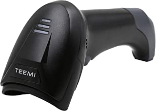 TEEMI QR Bluetooth Barcode Scanner, 1D 2D Wireless USB Imager for iPhone ipad Andriod Smartphone Tablet Mac Windows PC, Online Upgrading Feature, No USB Cradle