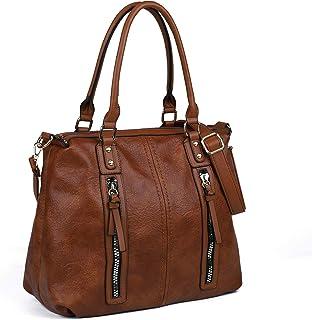 Women Handbags,Large Capacity Hobo Bags Multi Pocket Crossbody Bags Faux Leather Shoulder Tote Bag for Work School Travel