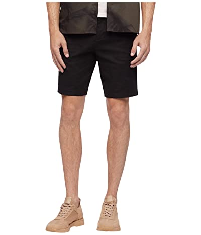 Calvin Klein Linen Refined Casual Shorts (Black) Men
