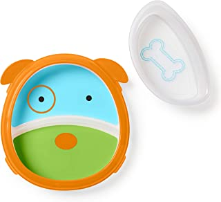 Skip Hop Baby Plate and Bowl Set, Dog/Blue/Green/Orange
