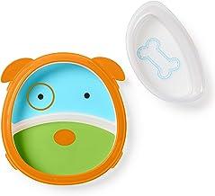 Skip Hop Baby Self-Feeding Training Dishes: Microwave & Dishwasher Safe Training Plate, Dog