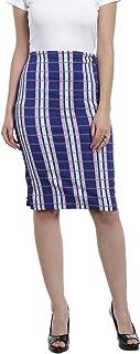 Zink London Women's Pencil Skirt (SK00004_XS, Blue, X-Small)