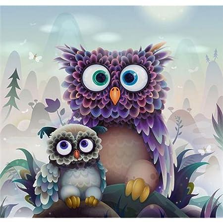 5D DIY Full Drill Diamond Painting Owls Embroidery Cross Stitch Kits Home Decor