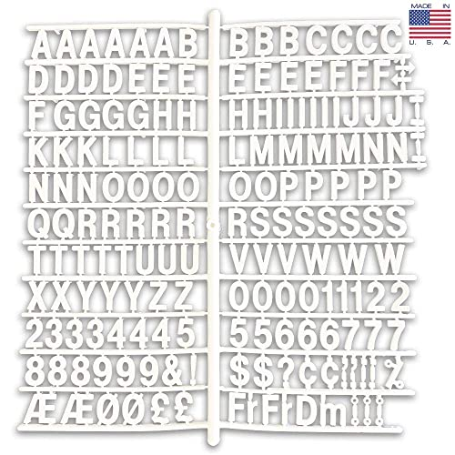 """3//4/"""" MOLDED PLASTIC LETTERS FOR COUNTER MESSAGE BOARD"""