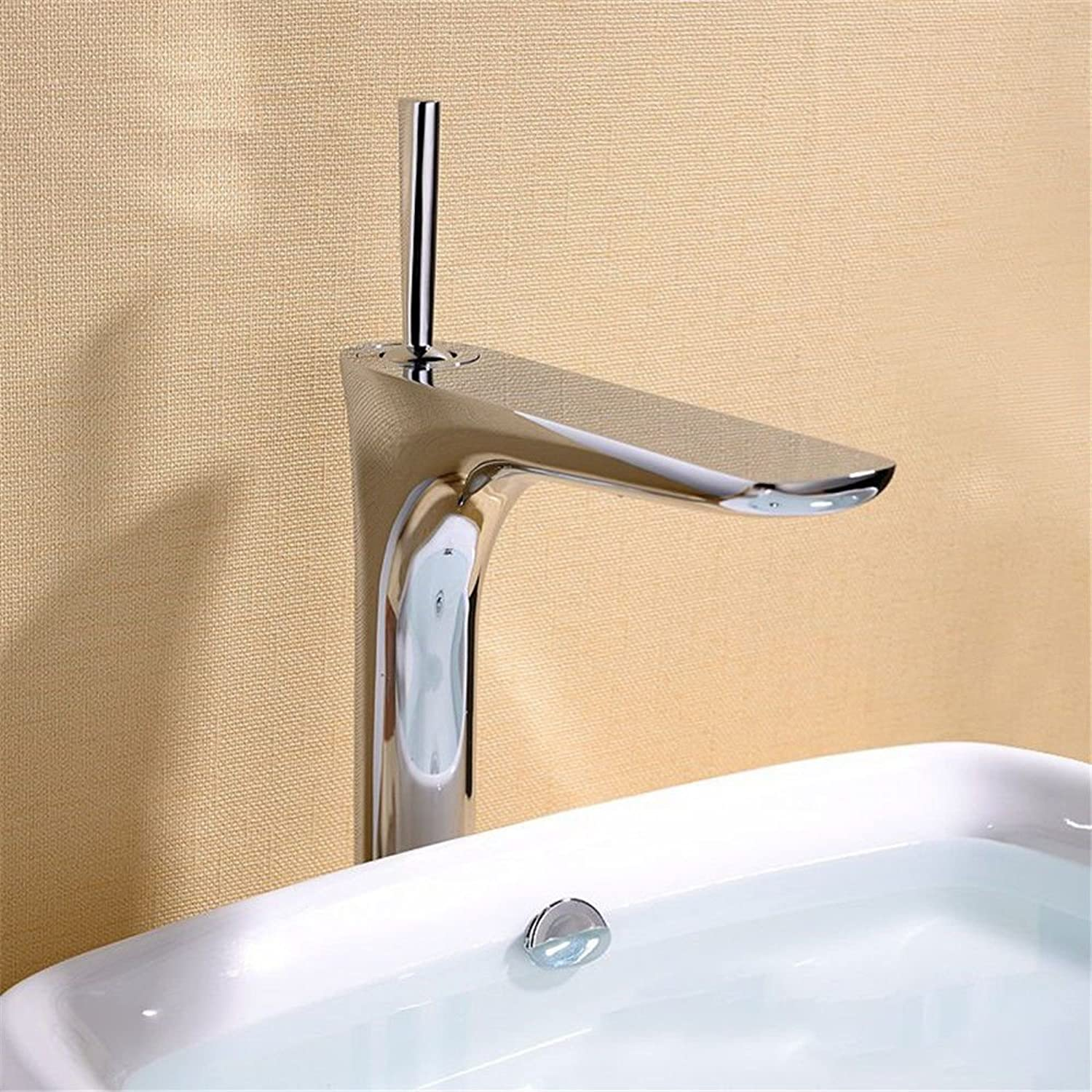 LHbox Basin Mixer Tap Bathroom Sink Faucet Continental basin faucet full copper paint oxidation green hot and cold bath faucet white plus high surface basin taps,