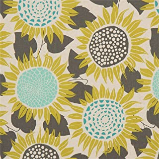 Cotton + Steel Front Yard Sunflowers Canvas Fabric, Yellow, Fabric By The Yard