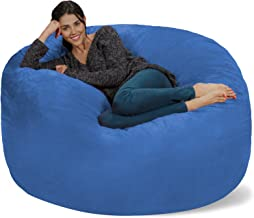 Chill Sack Bean Bag Chair: Giant 5' Memory Foam Furniture Bean Bag - Big Sofa with Soft Micro Fiber Cover - Royal Blue
