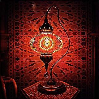 Lampe de Table E14 Lampe de Table d'ampoule Turc Romantique LED Lampe de Table à Coucher Chambre à Coucher Salon Restauran...