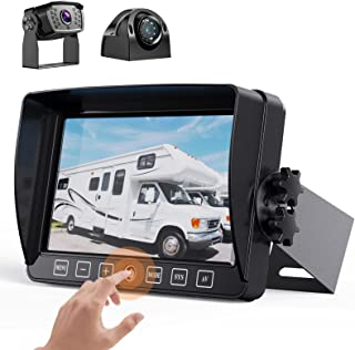 $139 » Backup Camera for Car and Truck HD 1080P Vehicle Backup Cameras RV Backup Camera with 7 Inch DVR Monitor Touch Screen Wire...