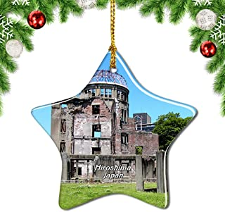 Weekino Japan The Atomic Bomb Dome Hiroshima Christmas Ornament Tree Decoration Hanging Pendant City Travel Souvenir Collection Gift