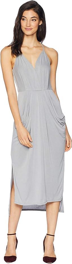 Midi Faux Wrap Dress