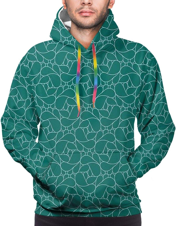 Men's Hoodies Sweatshirts,Abstract Lily Blossoms in Warm Colors Zen Garden Feng Shui