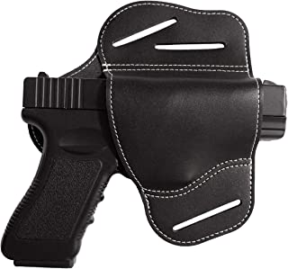 Wynex IWB Leather Holster, Gun Holsters for Waist Belts Handmade | 3 Slot Pancake Design | Concealed Carry Compatible Most 1911 Styles with 4