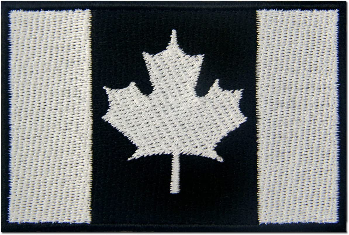 """Maple Leaf Canada Packers Retired Embroidered Sew On Patch 3/"""" X 3/"""""""